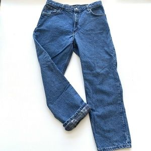 Carhartt Flannel Lined Jeans Mens Size 36 x 31